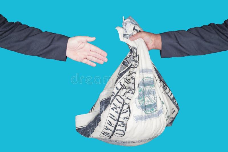 Transacción del dinero imagen de archivo