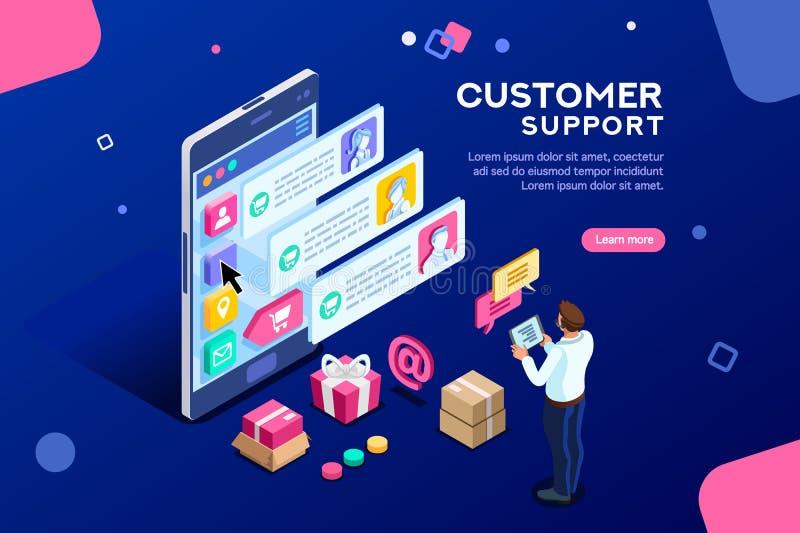 Transacrion för kommersiell servicekund redigerbart baner stock illustrationer
