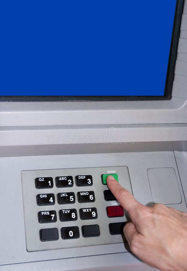 Download Transaction at an ATM stock image. Image of banking, financial - 3622537