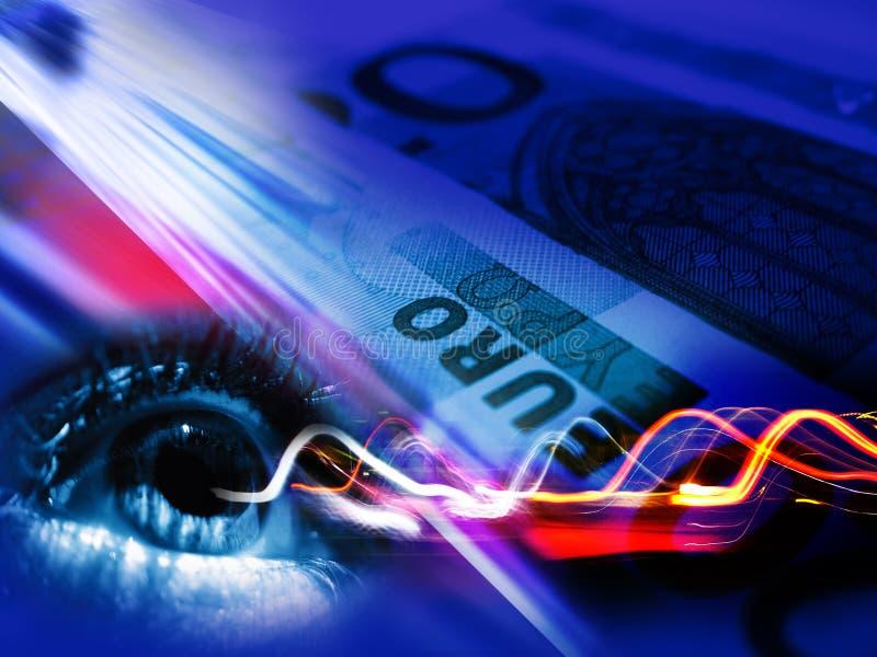 Transaction financière illustration stock