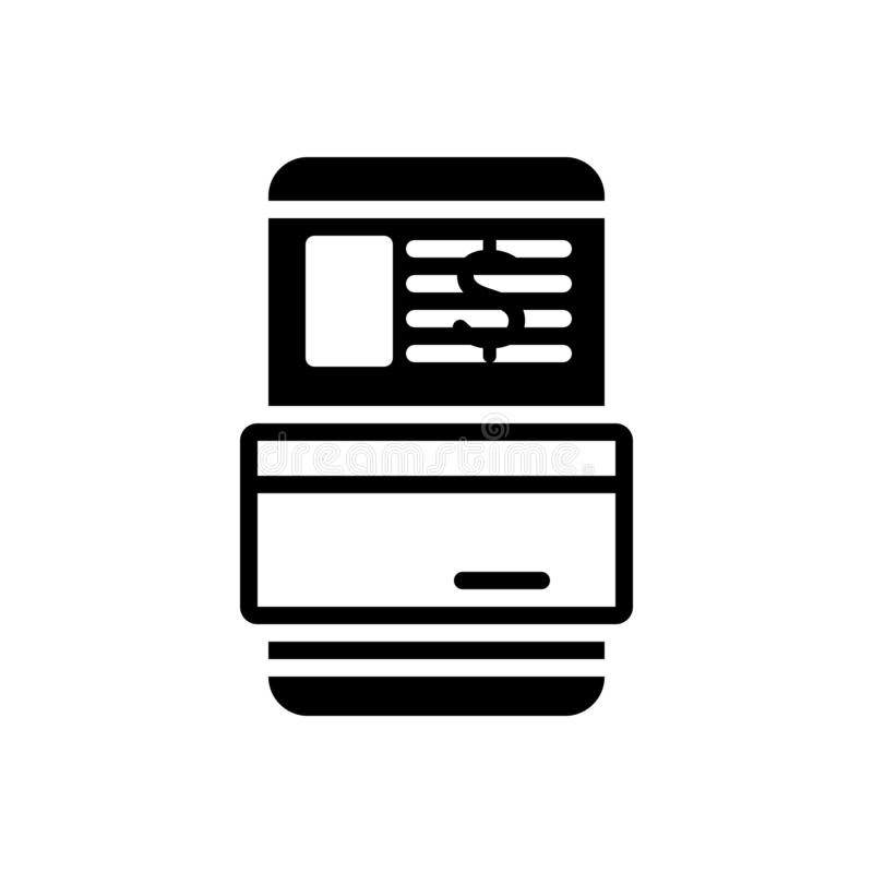 Black solid icon for Transaction, dealings and trade. Black solid icon for Transaction, payment, digital, technology,  dealings and trade vector illustration