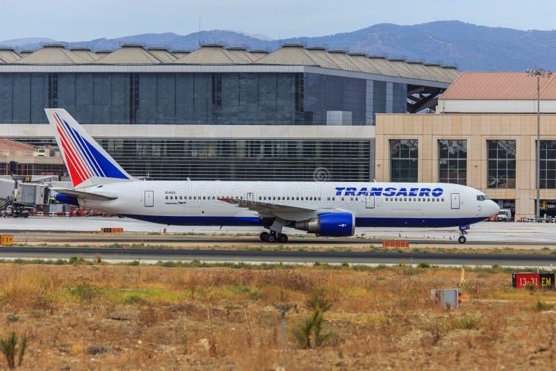 Transaero Боинг 767-300 стоковое изображение rf