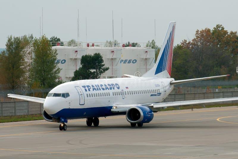 Transaero Боинг 737 стоковое фото