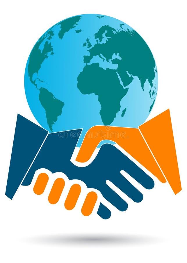 transakcja biznesowa globalna royalty ilustracja