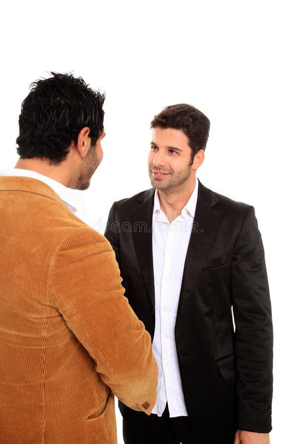 transakcja biznesowa robi mężczyzna dwa obraz stock