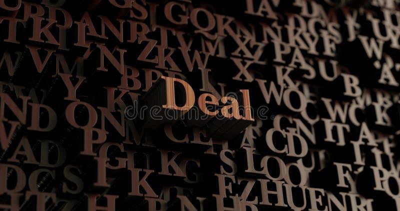Transakcja - Drewniani 3D odpłacający się listy/wiadomość ilustracja wektor