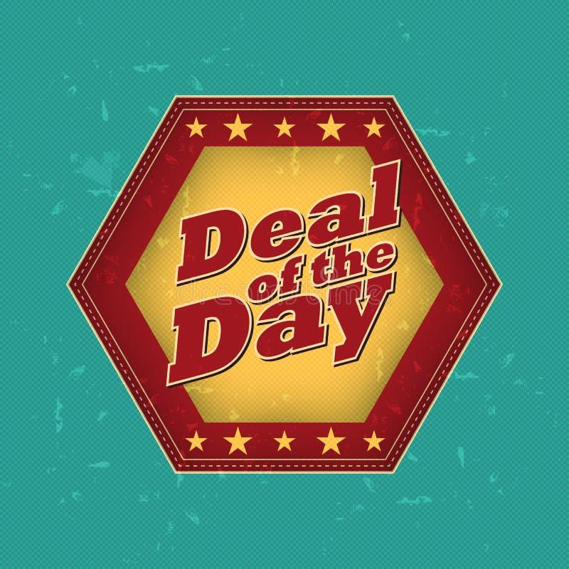 Transakcja dzień - retro etykietka ilustracja wektor