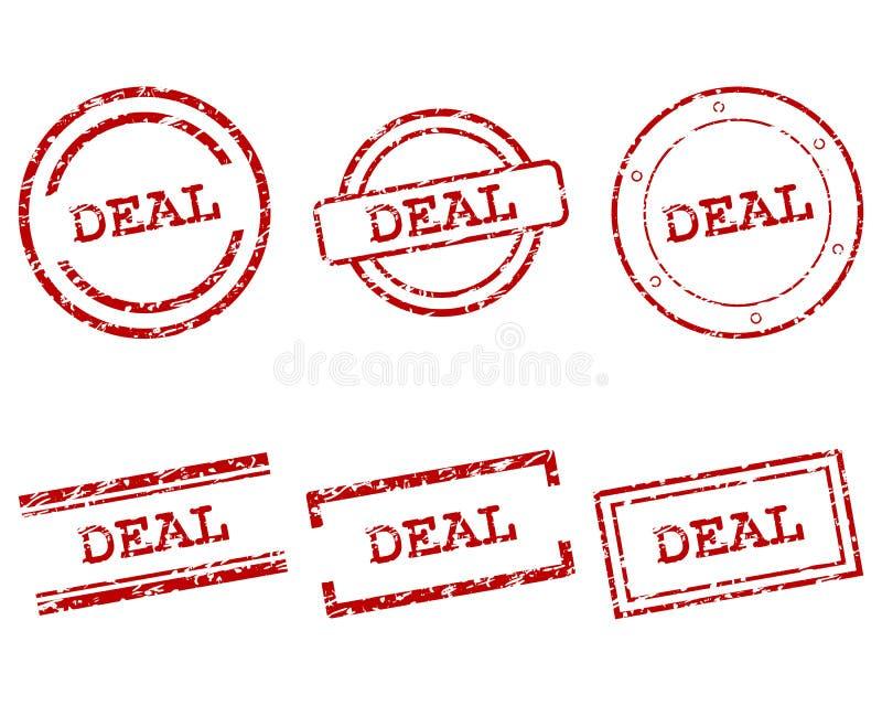 Transakcja znaczki royalty ilustracja
