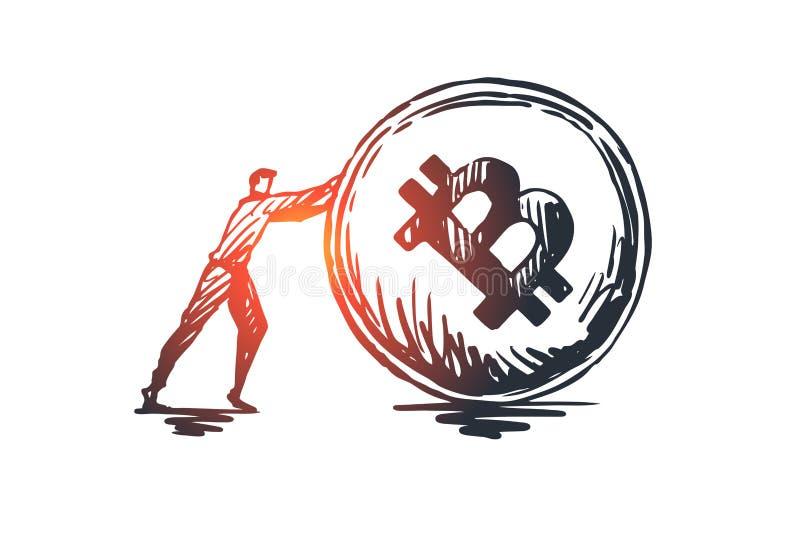 Transaktioner betalning, finans, digitalt elektroniskt begrepp Hand dragen isolerad vektor vektor illustrationer