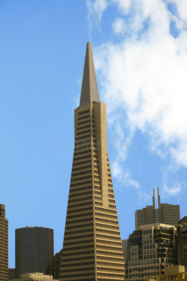 Transamerica building in S.F. royalty free stock images