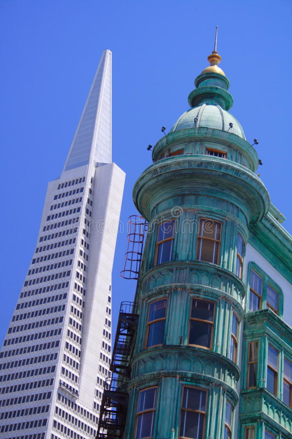 Free Transamerica Pyramid And Sentinel Tower, San Franc Royalty Free Stock Images - 15971999