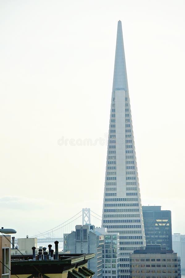 Transamerica pyramid San Francisco som planläggs av William Pereira arkivfoto