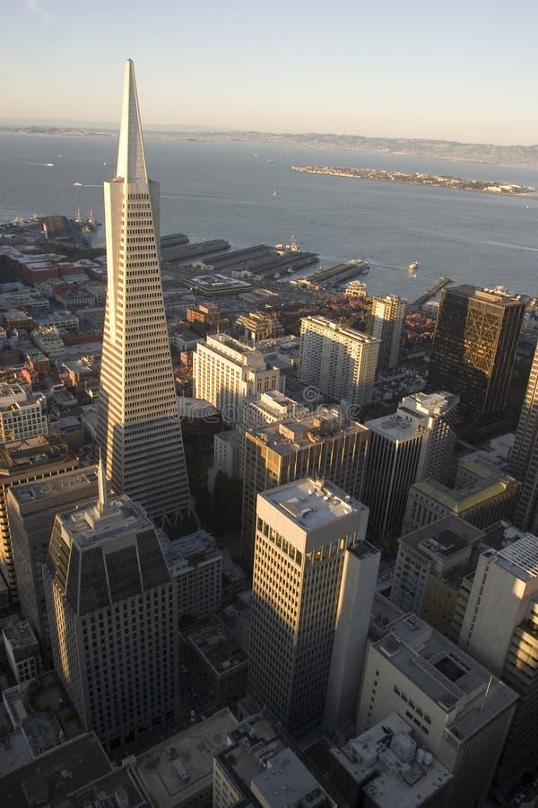 transamerica sunse здания стоковое фото rf