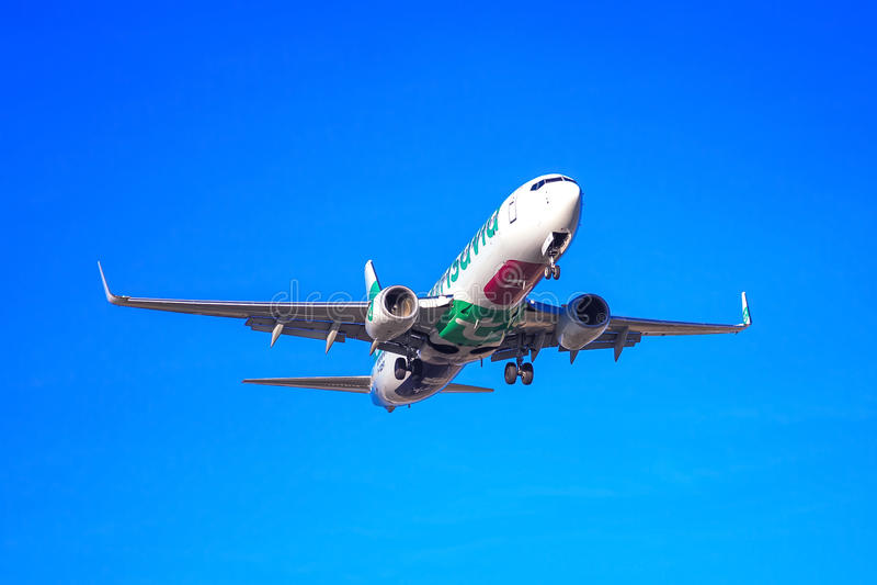 Transavia平面离去 图库摄影