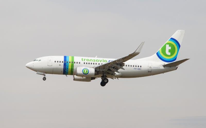 Transavia Boeing 737 royalty free stock photography