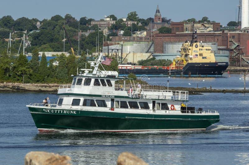 Transbordador Cuttyhunk y comandante de la nave de fuente imagen de archivo libre de regalías