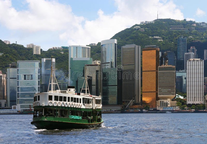Transbordador de Hong-Kong imágenes de archivo libres de regalías