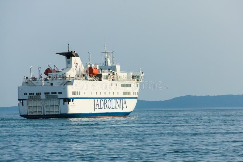 Transbordador de Jadrolinija Croacia foto de archivo