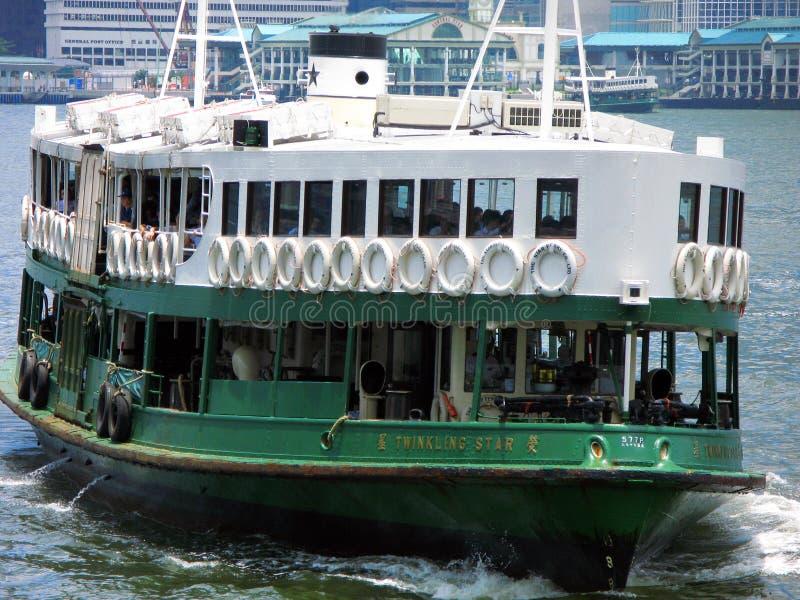 Transbordador de la estrella de Hong-Kong imagen de archivo
