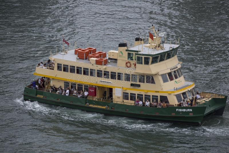 Transbordador de Sydney en el puerto fotos de archivo libres de regalías