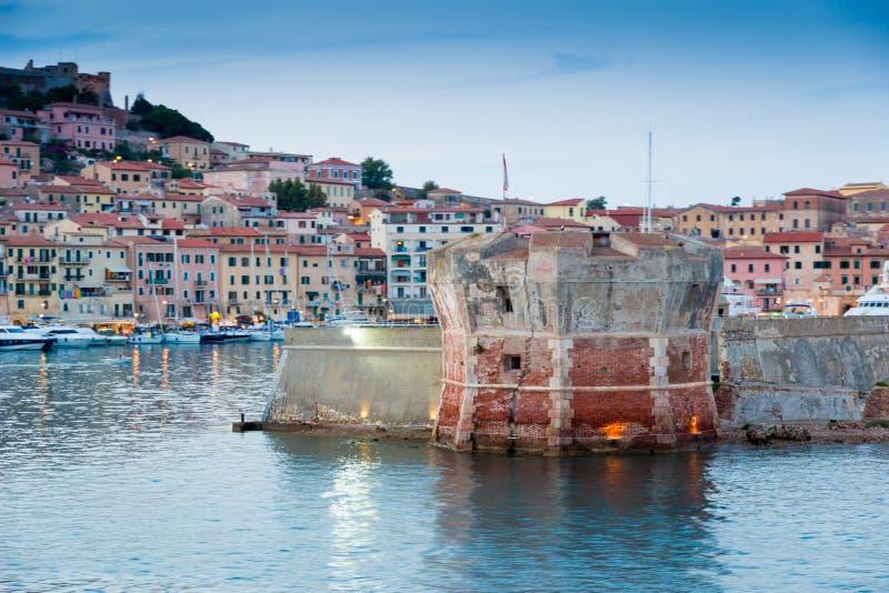 Transbordador a Elba Island, Italia fotografía de archivo libre de regalías