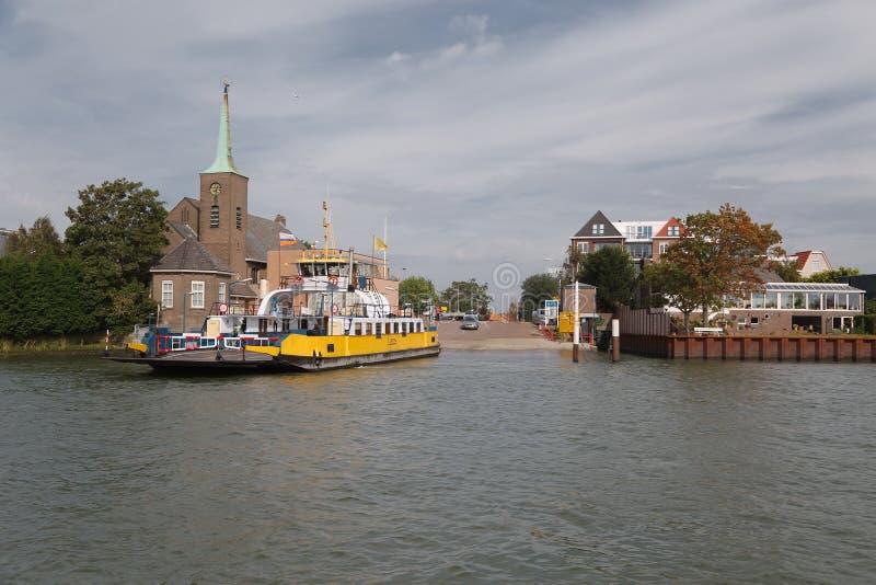 Transbordador entre Maassluis y Rozenburg fotos de archivo libres de regalías