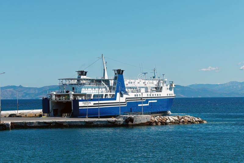 Transbordador inter griego de la isla fotos de archivo libres de regalías