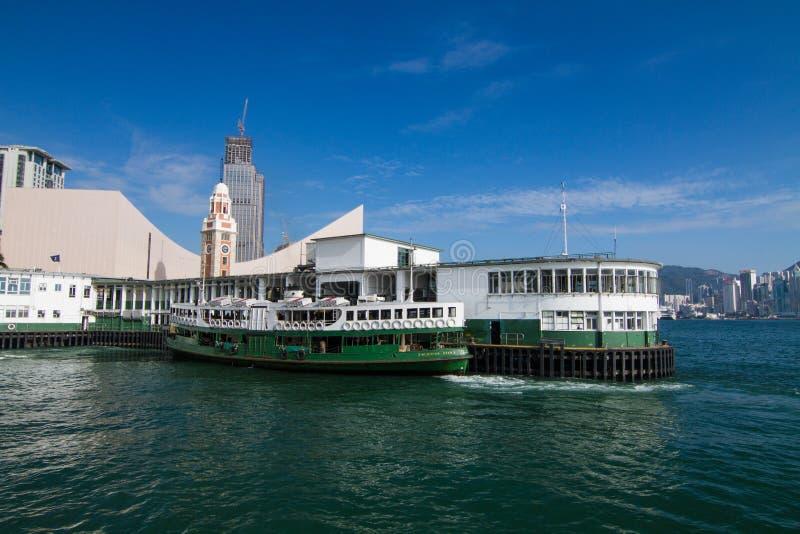 Transbordador Pier Kowloon de la estrella fotografía de archivo