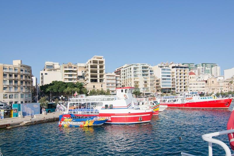 Transbordadores de Sliema foto de archivo libre de regalías