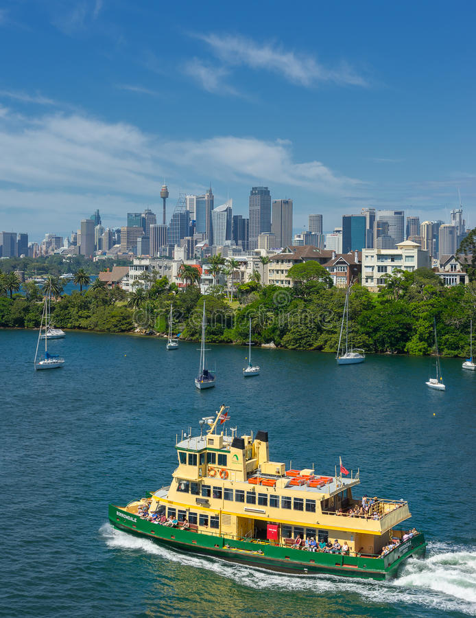 Transbordadores de Sydney foto de archivo libre de regalías