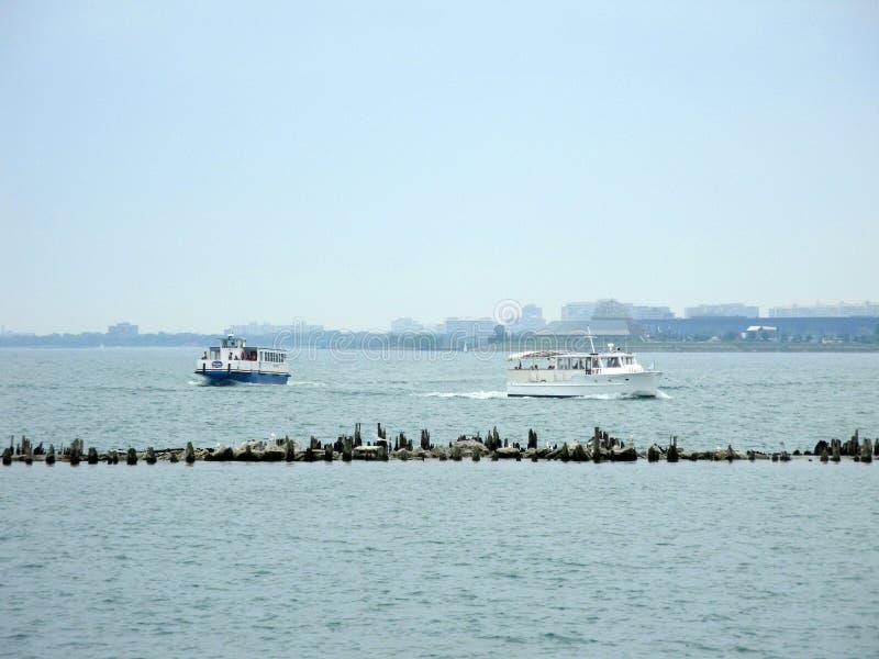 Transbordadores el lago Michigan foto de archivo libre de regalías
