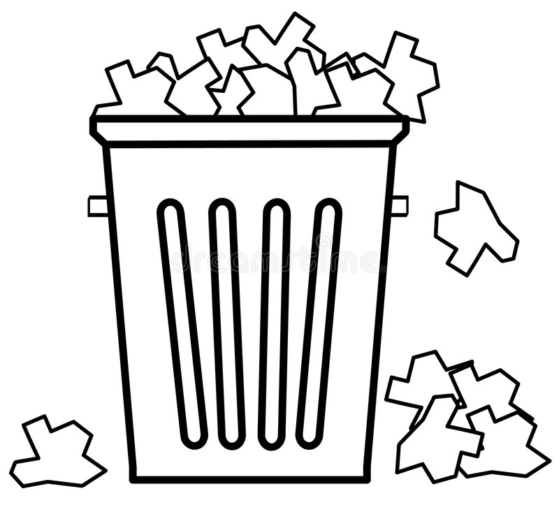 Transbordamento Com Lixo Fotos de Stock