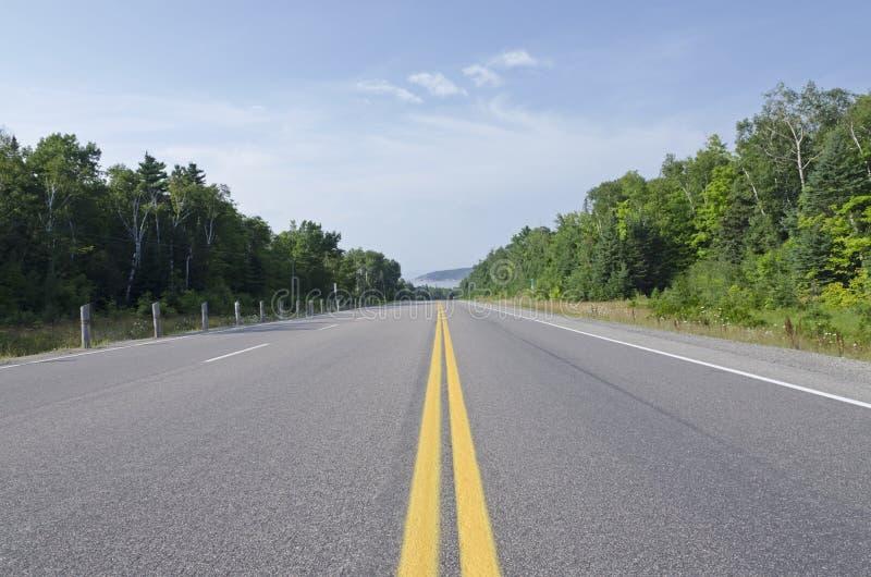 TransCanada huvudväg royaltyfria foton