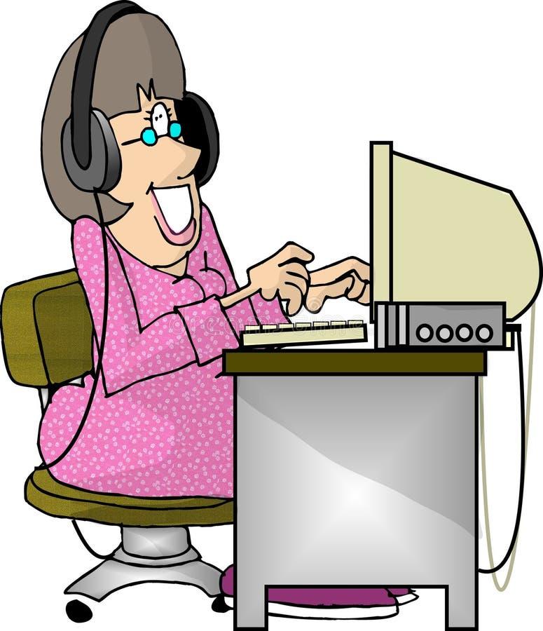 Download Transcriber stock illustration. Illustration of humor, dictate - 57830