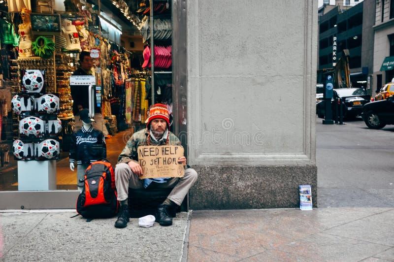 Transeúnte en las calles de Nueva York foto de archivo