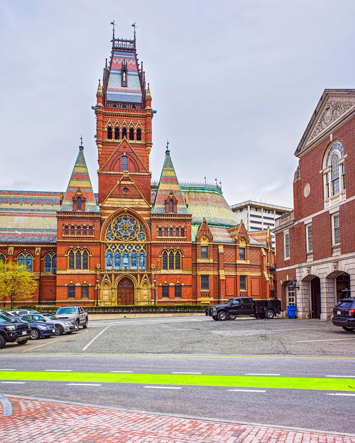 Transept мемориального Hall и отделения пожарной охраны Кембриджа стоковая фотография