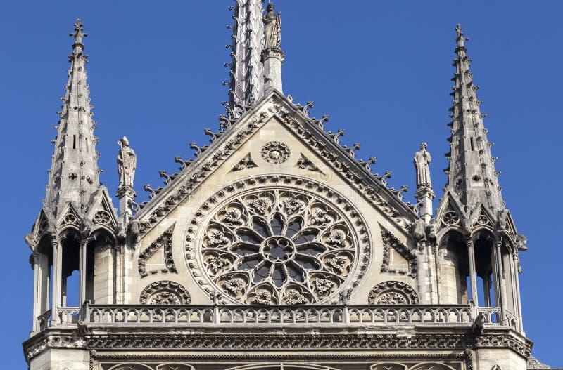 Transept собора Нотр-Дам в Париже стоковое изображение rf
