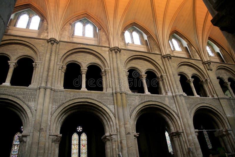 Transepts,小修道院教会,克赖斯特切奇 库存照片