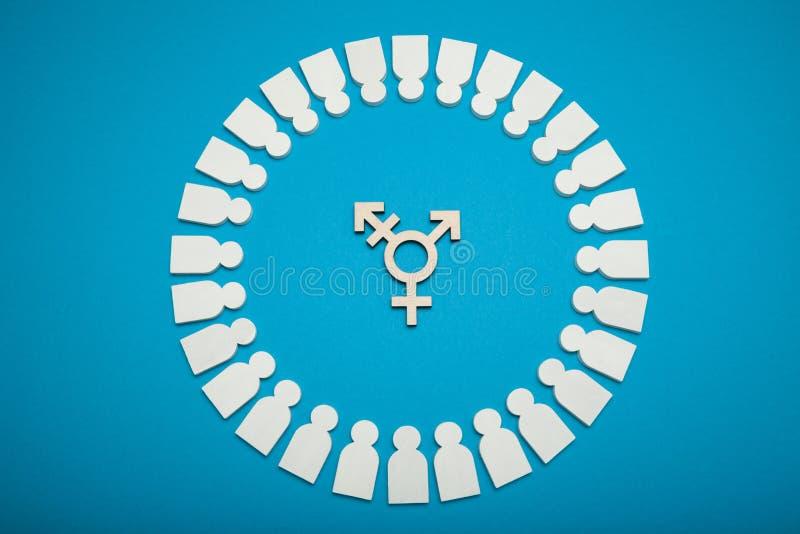 Transexual, LGBT, diversidad del género Concepto Genderless de la identidad Persona civil del transexual fotografía de archivo