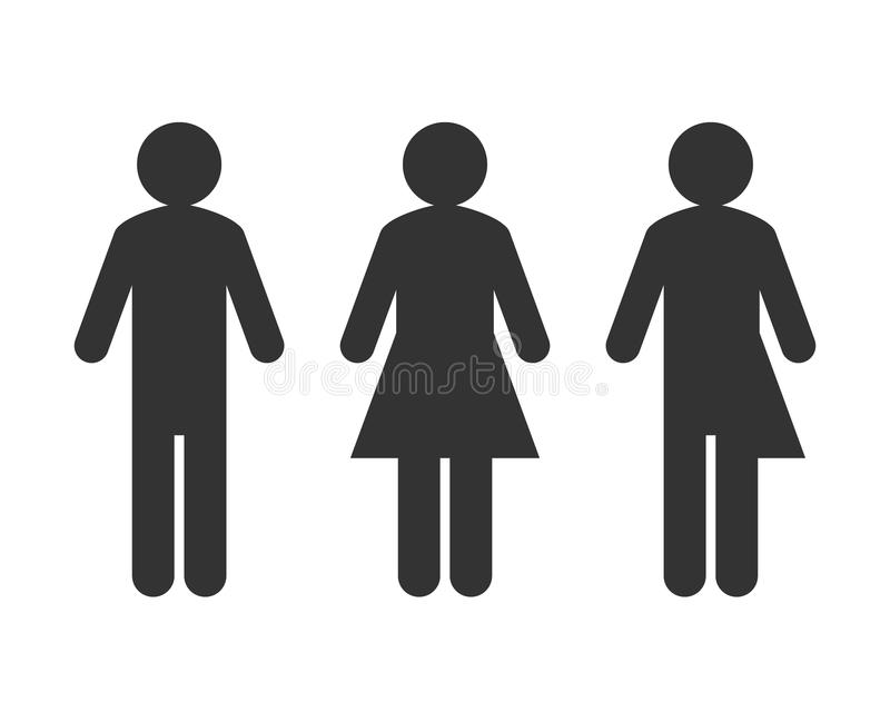 Transexual o concepto unisex del pictograma stock de ilustración