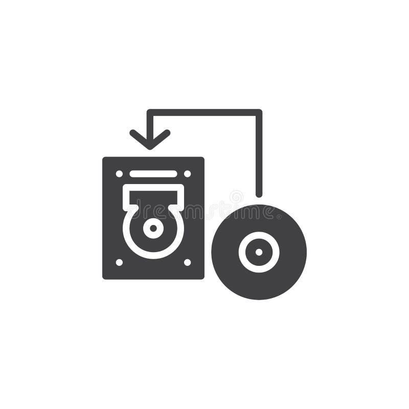 Transférez le disque dans le vecteur d'icône de disque d'unité de disque dur illustration stock