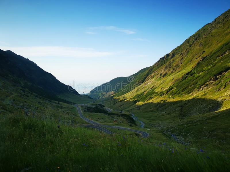 Transfăgărășan România. The beautiful nature of România stock photography