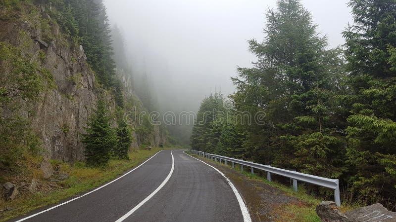 Transfagarasan在罗马尼亚语喀尔巴汗,罗马尼亚的山路 免版税库存图片