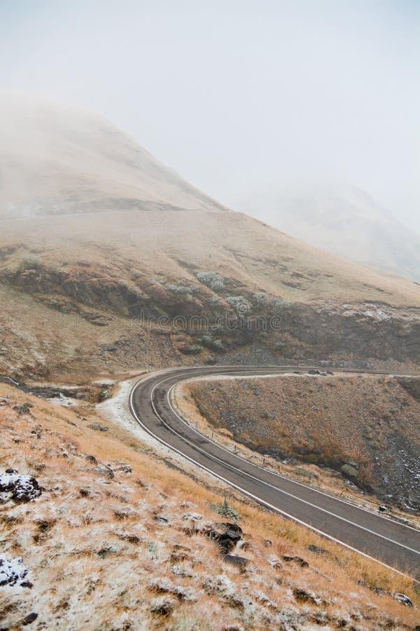 transfagarasan的高速公路 库存图片