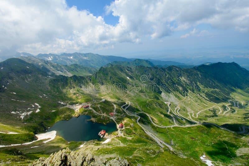 Transfagarasan路和Balea湖,锡比乌县,特兰西瓦尼亚,罗马尼亚 库存图片