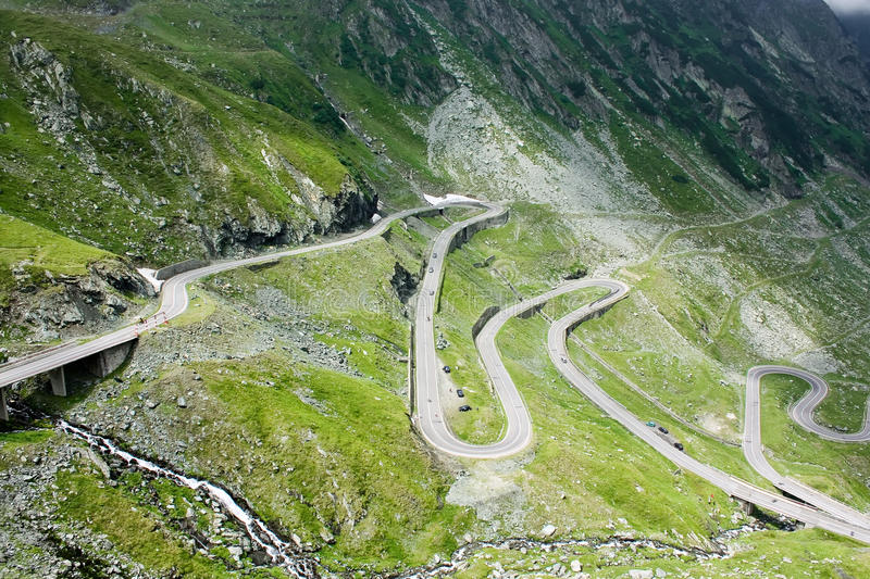 Transfagarasan landscape. Mountain landscape with difficult road of Transfagarasan royalty free stock images
