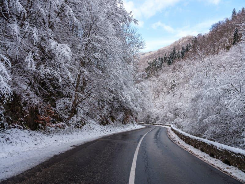 Transfagarasan-Landstraße in Rumänien stockfoto