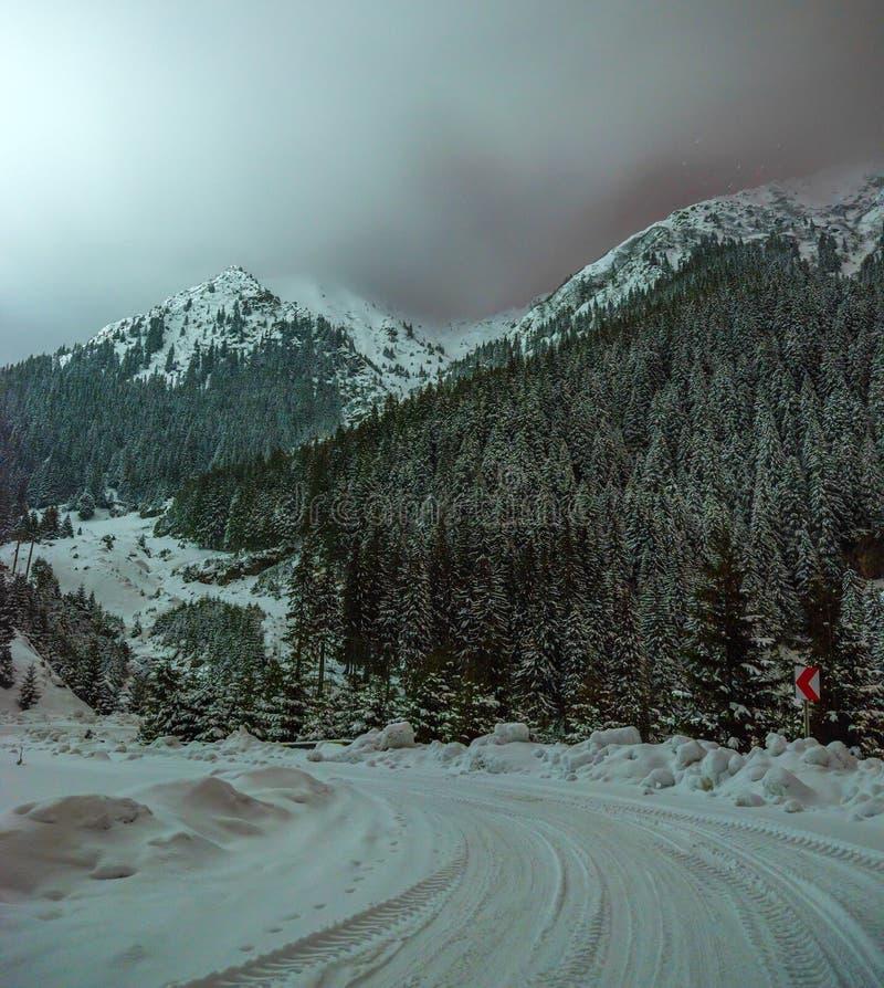 Transfagarasan-Landstraße in Rumänien lizenzfreie stockfotos