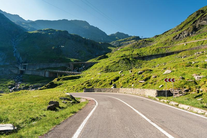 Transfagarasan the most beautiful road in romania royalty free stock images