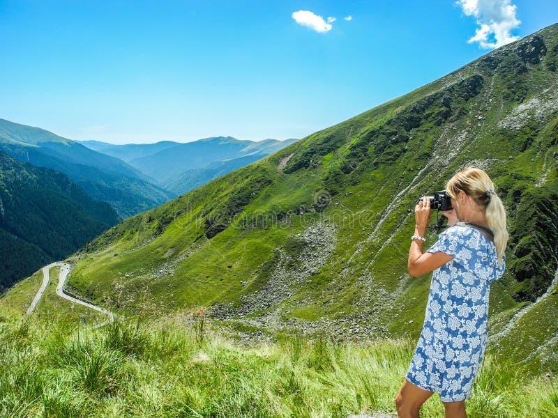 The Transfagarasan mountain road stock photography